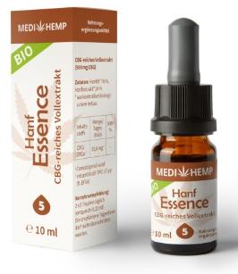 MediHemp Hanf Essence 5%, 10ml, mit CBG