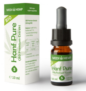 MediHemp Hanf Pure 5% CBD 10ml