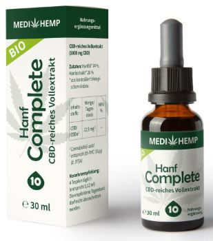 MediHemp Hanf Complete 10% CBD, 30ml