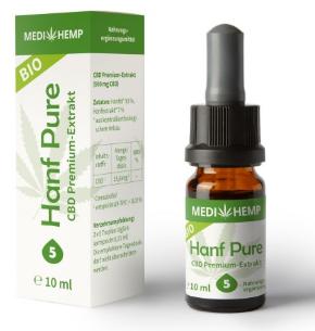 MediHemp Hanf Pure 5% CBD 30ml