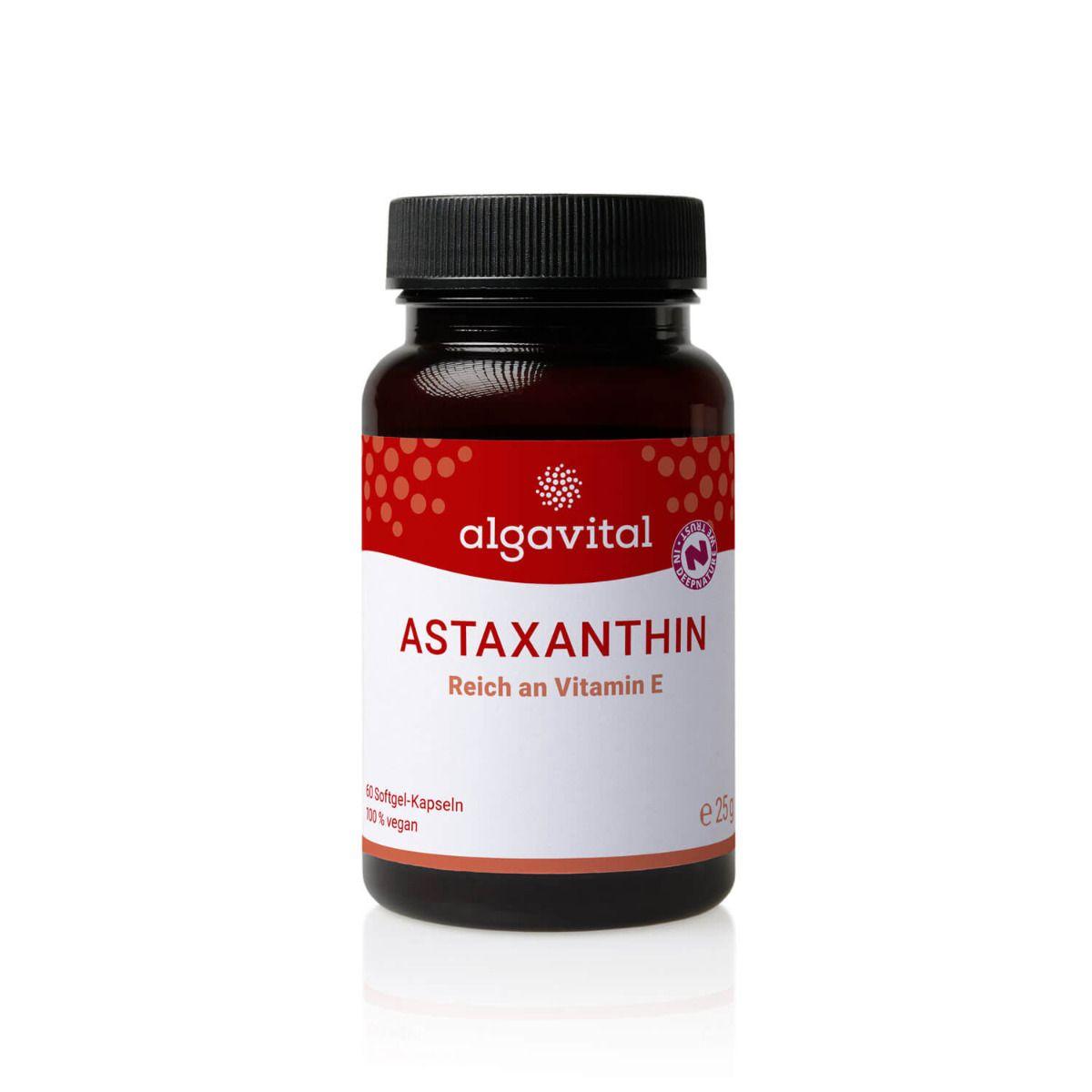 Astaxanthin, vegan 60Stk. (Vitamin E)