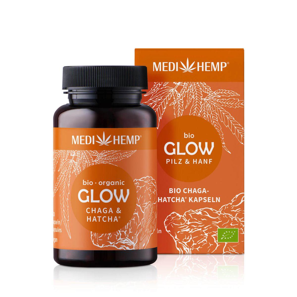 Bio GLOW Chaga-HATCHA® , 120 Kapseln, vegan
