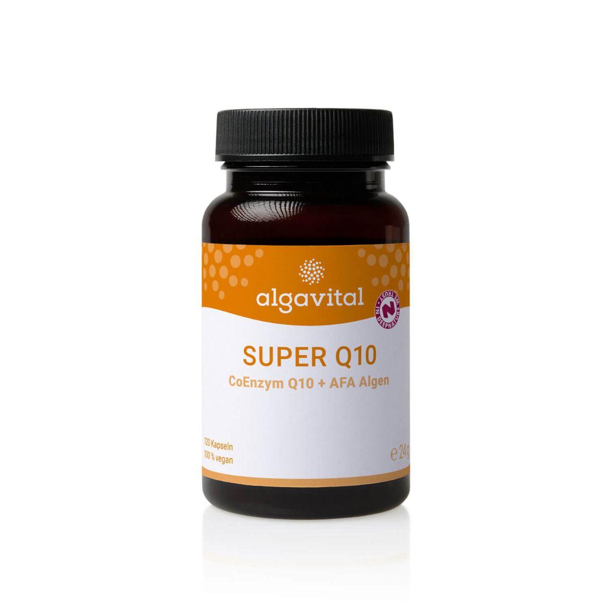 Super Q10 + AFA Alge, 120 Kapseln à 200 mg