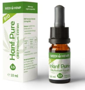 MediHemp Hanf Pure 2,5% CBD 10ml