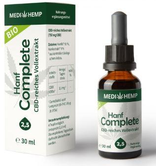 MediHemp Hanf Complete 2,5% CBD, 30ml