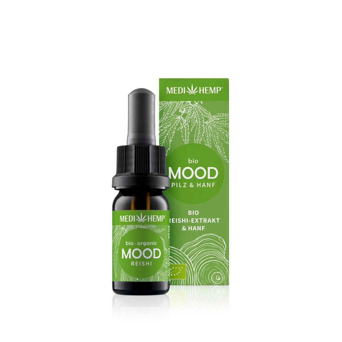 Bio MOOD Reishi-Extrakt & Hanf, Tropfen, vegan