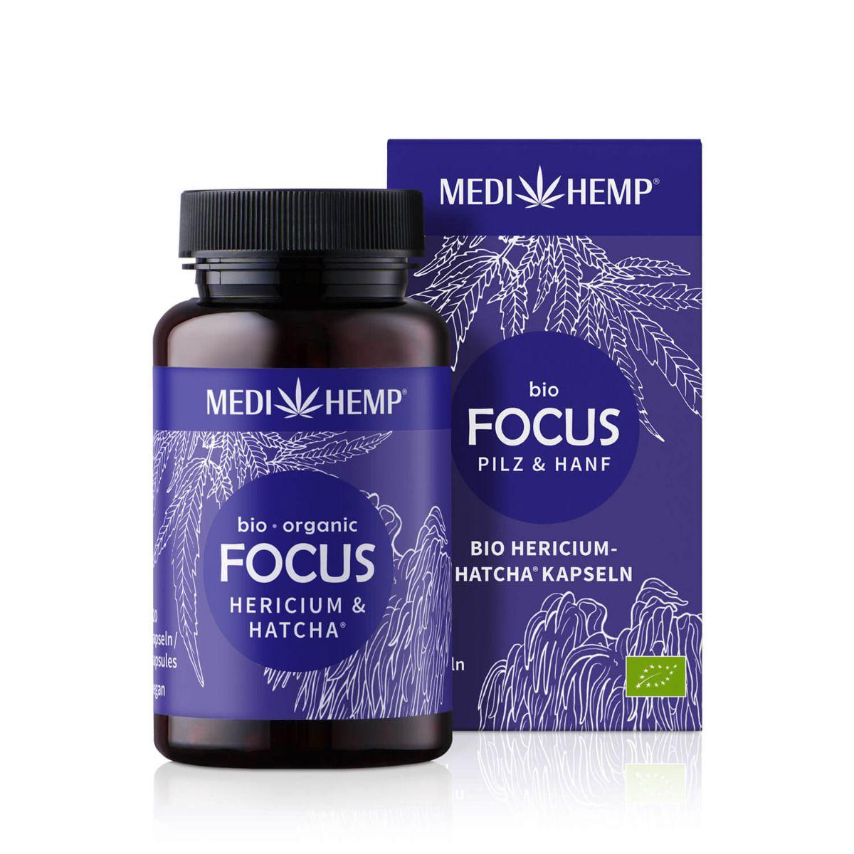Bio FOCUS Hericium-HATCHA®, 120 Kapseln, vegan